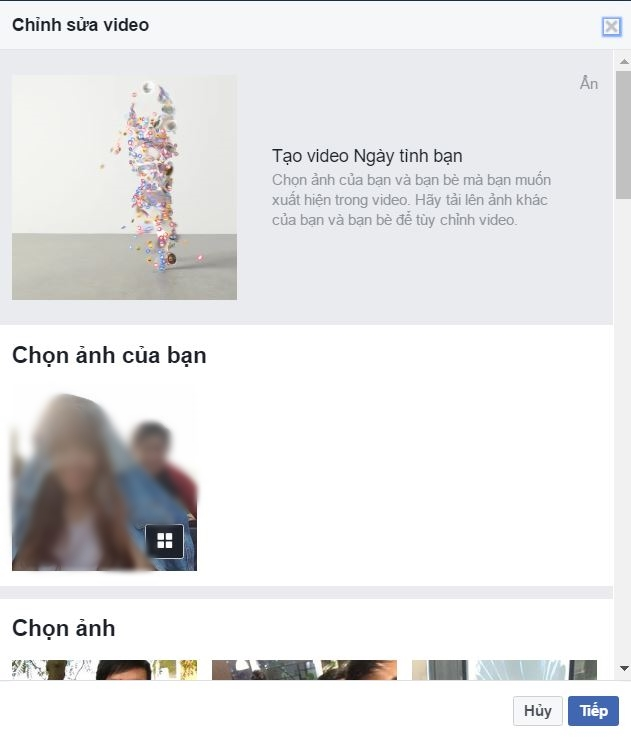 cach lam video friends day facebook 1