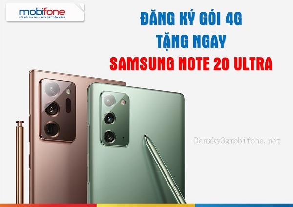 dang ky goi cuoc 4G tang dien thoai samsung note 20 ultra